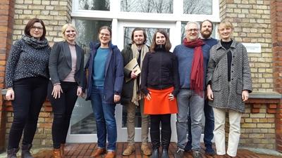 Erstes Treffen des Kernteams Kreis Steinfurt am 23.01.2020 gemeinsam mit der TU Dortmund (Foto: energieland2050 e.V.).