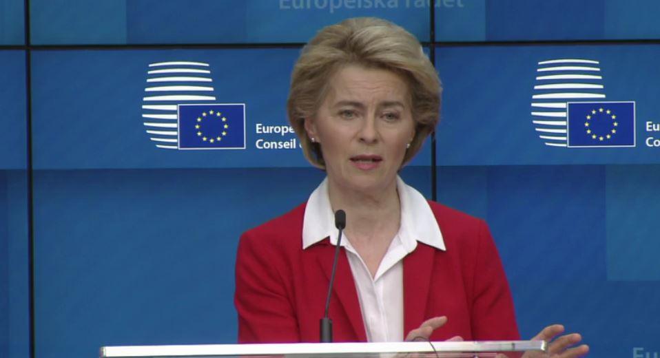 Bild: EU-Kommission aus der Video-Konferenz
