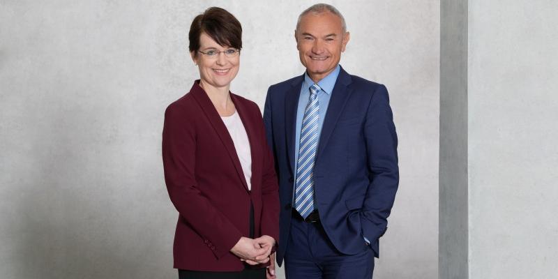 PtJ-Leiterin Dr. Stephanie Bauer und ihr ständiger Vertreter Stefan Demuth (Bild: Manuel Thomé)