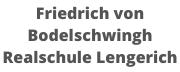 Friedrich von Bodelschwingh Realschule Lengerich