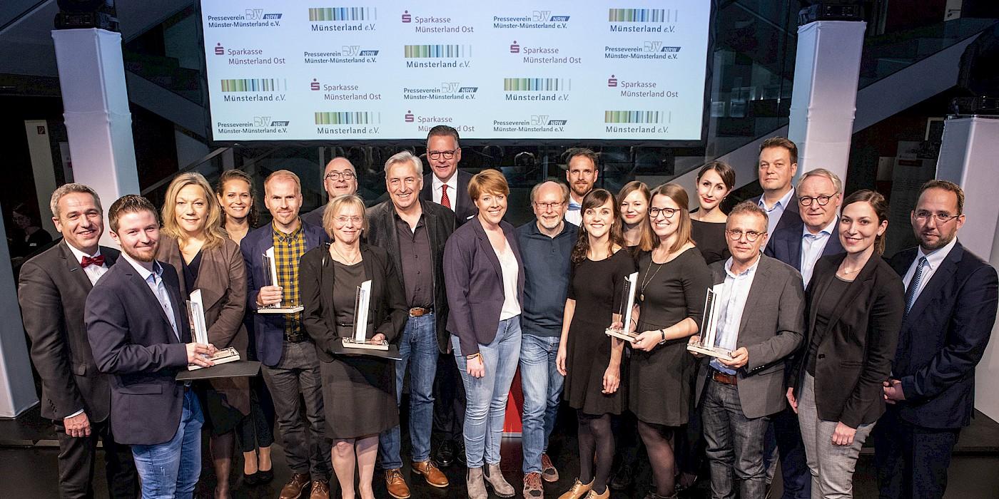 Verleihung des Journalistenpreis Münsterland in der Sparkasse Münsterland Ost am 13.10.2018,  Foto: Arne Pöhnert